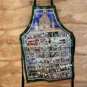 vintage 1980 Harrods Knightsbridge store tie apron